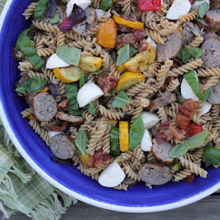 Italian Sausage, Zucchini and Bocconcini Pasta Salad.