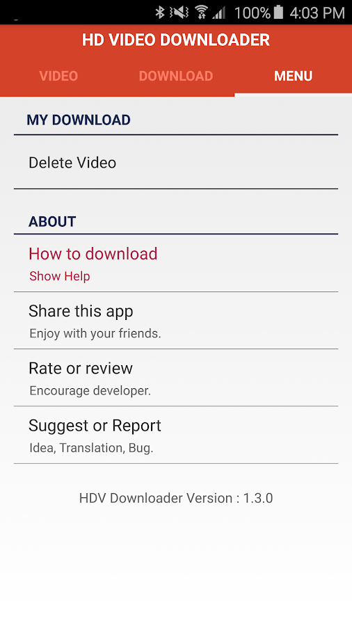 Screenshots of HD Video Downloader for iPhone