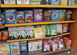 Photo: I loved the big selection of Diary of a Wimpy Kid books! But again, not what I was looking for.