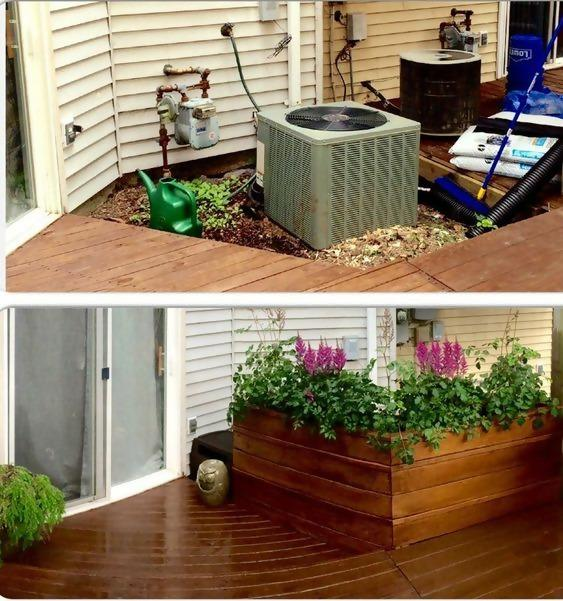 Do this to hide the window well on the back deck and still get light in the basement.