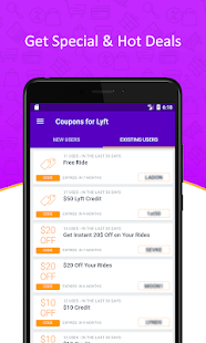 Lucky Taxi Coupons for Lyft