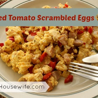 Roasted Tomato Scrambled Eggs.