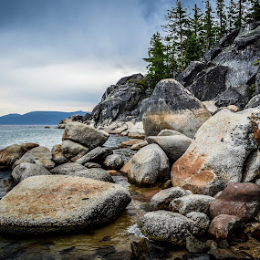 by Justin Murazzo - Landscapes Beaches ( tanquil, cliffs, beach, long, beaches, nature, cold, emerald, tahoe, california, lake, overcast, huge, bay, nevada, cove, trees, day, big, natural, west, large, shore, calm, america, delightful, state, states, north, landscape, sun, daytime, happy, grey, bliss, rocks, clouds, water, united, peaceful, park, afternoon, waves, beautiful, scenic, gray, lester, south, summer, sierra, scenery, daylight,  )