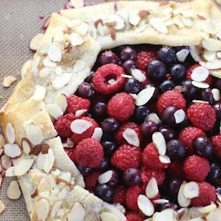 Blueberry Raspberry Almond Galette