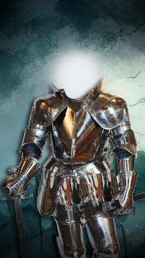 骑士盔甲照片蒙太奇
