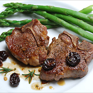 Lamb Chops with Cherry Marsala Sauce