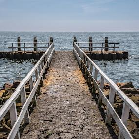 Pier by Twan Konings - Landscapes Waterscapes ( water, sky, afsluitdijk, holland, pier, sea, beach, netherlands )