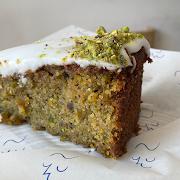 cake — pistachio, orange + cardamon