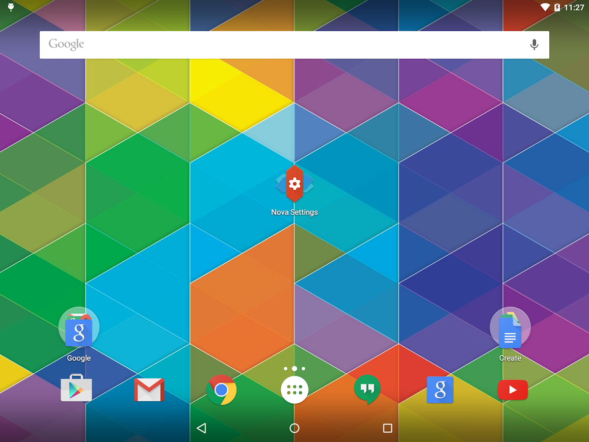 Nova Launcher: captura de pantalla