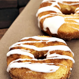 Drizzled Snickerdoodle Donuts.