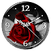 Red Rose Clock Live Wallpaper icon