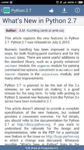Download Python Documentation 2 7 Google Play softwares