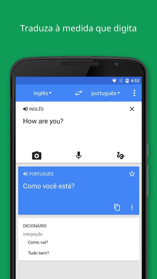 Google Tradutor: captura de tela