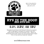 Uncle Bear's Rye In The Hood Red Rye IPA