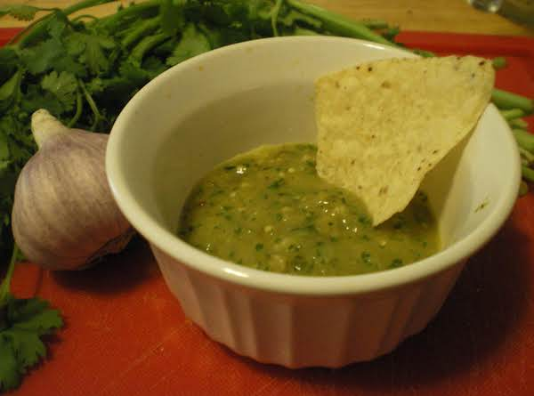Tomatillo And Hatch Pepper Salsa