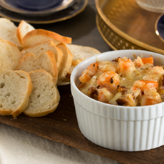 quick and easy movie night snacks shrimp walnut and mozzarella dip