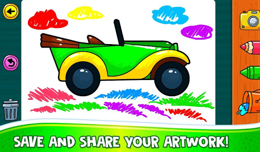 ud83dude97 Learn Coloring & Drawing Car Games for Kids  ud83cudfa8 4.0 screenshots 10