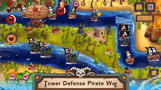 Tower Defense Pirates TD  captures d'u00e9cran 1