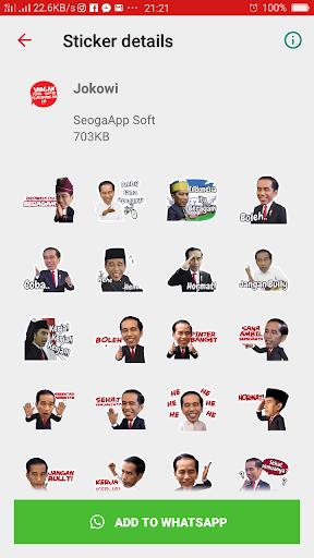 Jokowi Prabowo Wa Stickers Screenshot