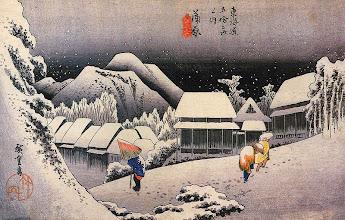 "Photo: Utagawa Hiroshige, ""Villaggio nella neve"" (1833)"