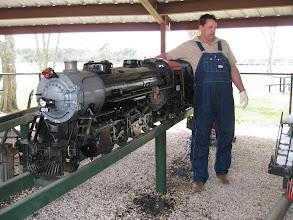 Photo: Vance Nickerson adjusting controls