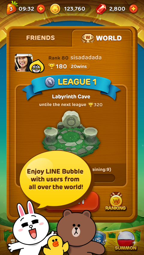 LINE Bubble!- screenshot