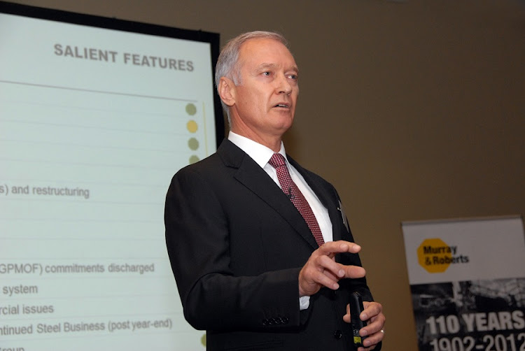 Murray & Roberts CEO Henry Laas. Picture: ARNOLD PRONTO
