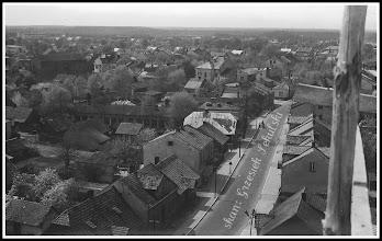 Photo: Panorama Rudnika z wysokich rusztowań otaczających kościół parafialny