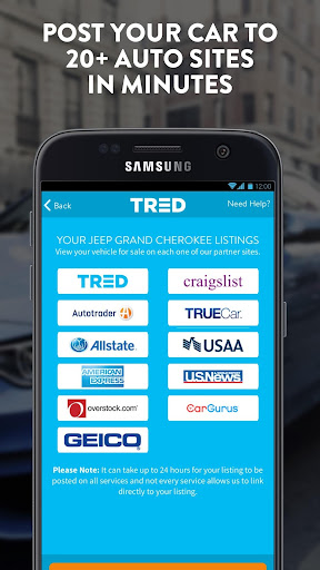 Sell Your Car For More · TRED screenshot