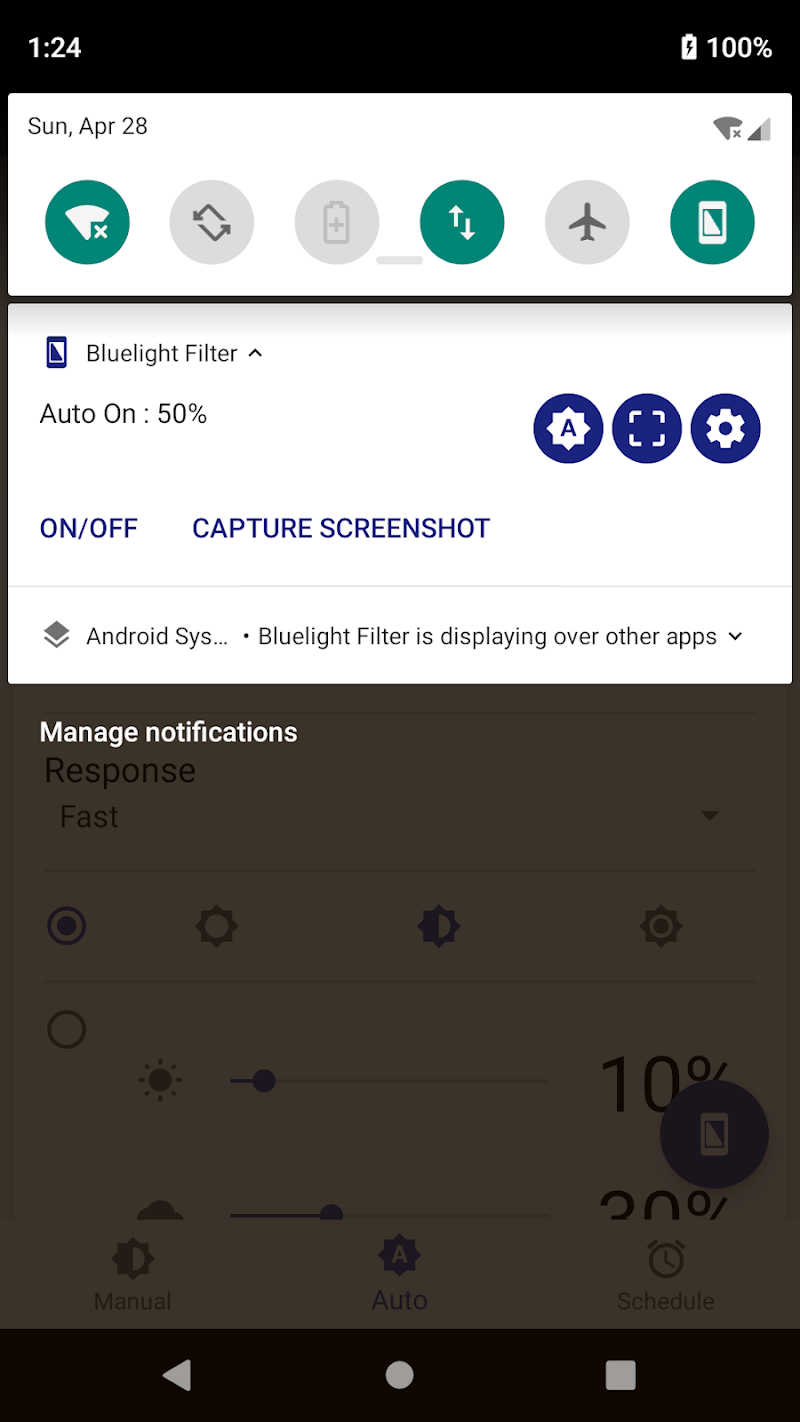 Bluelight Filter for Eye Care - Auto screen filter Screenshot 3
