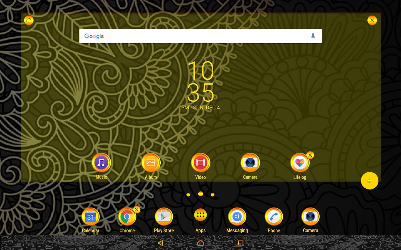 Google themes original - Original Xperia Theme Screenshot