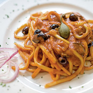 Pasta with Spicy Tomato-Beer Sauce.