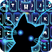 Neon Stalker Cat Keyboard Theme
