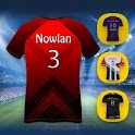 Football Jersey Designer with Name & Logos icon