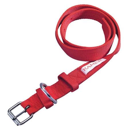 Halsrem Nylon 120 x 4 cm Röd