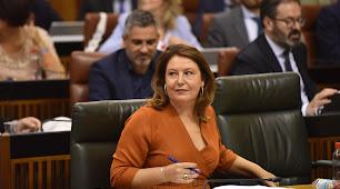 Carmen Crespo en el Parlamento Andaluz.