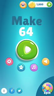 Make 64 - Merge Numbers Puzzle! Simple Casual Game