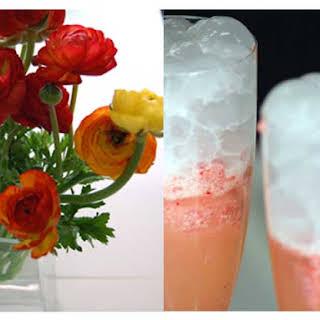 Strawberry Sorbato and Prosecco Floats.