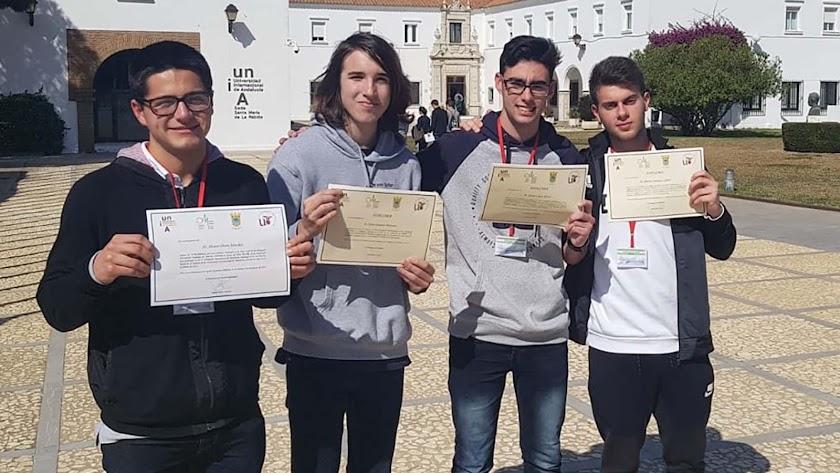 Almerienses en la prueba andaluza celebrada en Huelva.