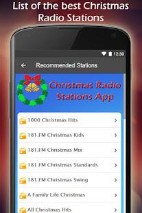 screenshot image - List Of Christmas Radio Stations