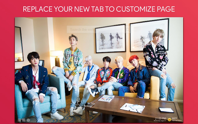 Bts Wallpaper HD Custom New Tab