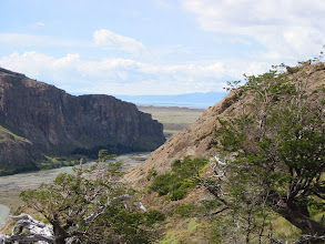 Photo: Looking back towards Lago Viedma and the Patagonian steppe