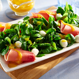 Feldsalat mit Balsamico – Mango – Dressing