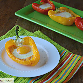 Low Carb Baked Eggs in Peppers