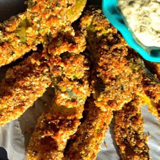 Oven-Fried Pickles [Vegan]