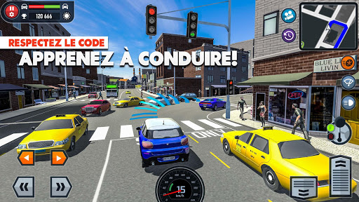Car Driving School Simulator  captures d'u00e9cran 1