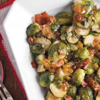Brussels Sprouts with Golden Raisins and Bacon