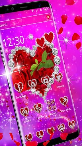 shiny rose diamond theme screenshot 1