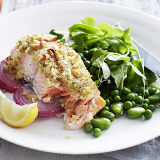 Roast Salmon with Pine Nut Crumb