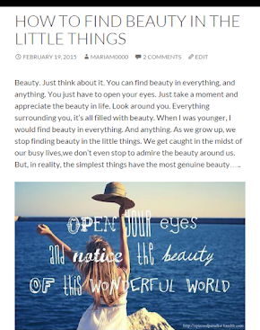 How To Find Beauty In The Little Things | Capture the moment